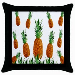 Pineapple Print Polygonal Pattern Throw Pillow Case (Black)