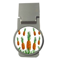 Pineapple Print Polygonal Pattern Money Clips (Round)