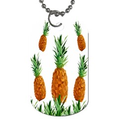 Pineapple Print Polygonal Pattern Dog Tag (two Sides)