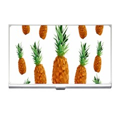 Pineapple Print Polygonal Pattern Business Card Holders