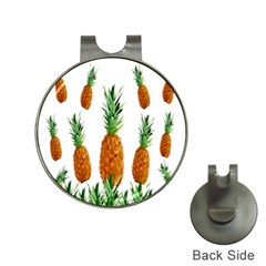 Pineapple Print Polygonal Pattern Hat Clips With Golf Markers