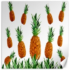 Pineapple Print Polygonal Pattern Canvas 12  x 12