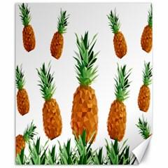 Pineapple Print Polygonal Pattern Canvas 20  x 24