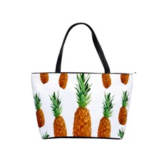 Pineapple Print Polygonal Pattern Shoulder Handbags