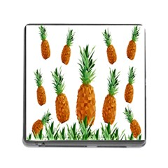 Pineapple Print Polygonal Pattern Memory Card Reader (square)