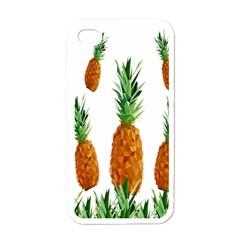 Pineapple Print Polygonal Pattern Apple iPhone 4 Case (White)