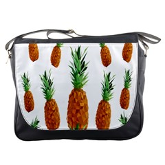 Pineapple Print Polygonal Pattern Messenger Bags