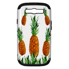 Pineapple Print Polygonal Pattern Samsung Galaxy S Iii Hardshell Case (pc+silicone)