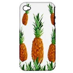 Pineapple Print Polygonal Pattern Apple iPhone 4/4S Hardshell Case (PC+Silicone)
