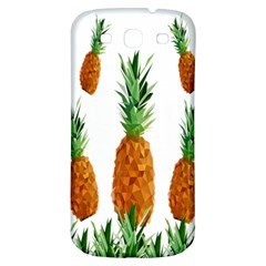 Pineapple Print Polygonal Pattern Samsung Galaxy S3 S III Classic Hardshell Back Case