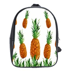 Pineapple Print Polygonal Pattern School Bags (xl)