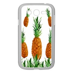 Pineapple Print Polygonal Pattern Samsung Galaxy Grand Duos I9082 Case (white)