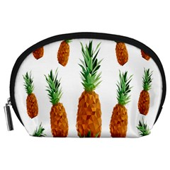 Pineapple Print Polygonal Pattern Accessory Pouches (large)