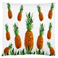 Pineapple Print Polygonal Pattern Large Flano Cushion Case (Two Sides)