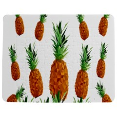 Pineapple Print Polygonal Pattern Jigsaw Puzzle Photo Stand (Rectangular)