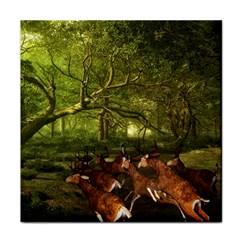 Red Deer Deer Roe Deer Antler Tile Coasters