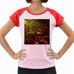 Red Deer Deer Roe Deer Antler Women s Cap Sleeve T Shirt