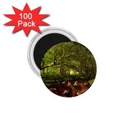 Red Deer Deer Roe Deer Antler 1 75  Magnets (100 Pack)