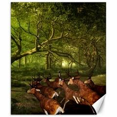 Red Deer Deer Roe Deer Antler Canvas 20  x 24