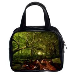 Red Deer Deer Roe Deer Antler Classic Handbags (2 Sides)