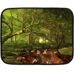 Red Deer Deer Roe Deer Antler Fleece Blanket (Mini)