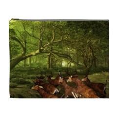 Red Deer Deer Roe Deer Antler Cosmetic Bag (xl)