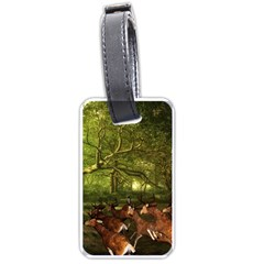 Red Deer Deer Roe Deer Antler Luggage Tags (One Side)