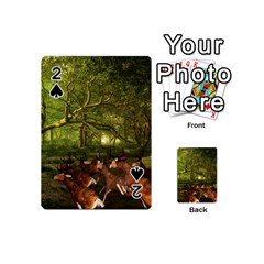 Red Deer Deer Roe Deer Antler Playing Cards 54 (mini)