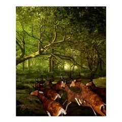 Red Deer Deer Roe Deer Antler Shower Curtain 60  X 72  (medium)