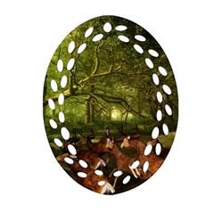 Red Deer Deer Roe Deer Antler Ornament (oval Filigree)