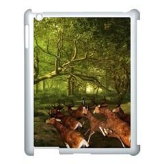 Red Deer Deer Roe Deer Antler Apple iPad 3/4 Case (White)