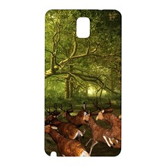 Red Deer Deer Roe Deer Antler Samsung Galaxy Note 3 N9005 Hardshell Back Case