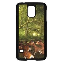 Red Deer Deer Roe Deer Antler Samsung Galaxy S5 Case (black)