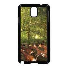 Red Deer Deer Roe Deer Antler Samsung Galaxy Note 3 Neo Hardshell Case (black)
