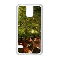 Red Deer Deer Roe Deer Antler Samsung Galaxy S5 Case (white)