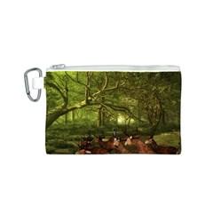 Red Deer Deer Roe Deer Antler Canvas Cosmetic Bag (S)