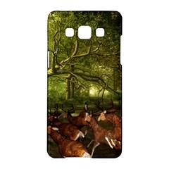 Red Deer Deer Roe Deer Antler Samsung Galaxy A5 Hardshell Case