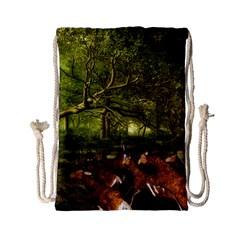 Red Deer Deer Roe Deer Antler Drawstring Bag (small)