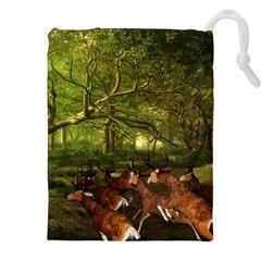 Red Deer Deer Roe Deer Antler Drawstring Pouches (XXL)