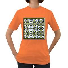 Tiles Panel Decorative Decoration Women s Dark T Shirt