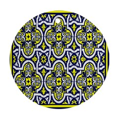 Tiles Panel Decorative Decoration Round Ornament (two Sides)