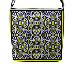 Tiles Panel Decorative Decoration Flap Messenger Bag (l)