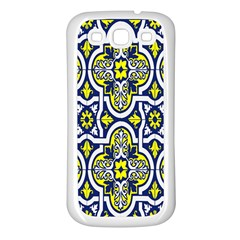 Tiles Panel Decorative Decoration Samsung Galaxy S3 Back Case (White)