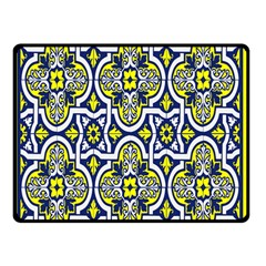 Tiles Panel Decorative Decoration Double Sided Fleece Blanket (small)