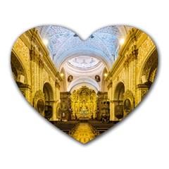 Church The Worship Quito Ecuador Heart Mousepads