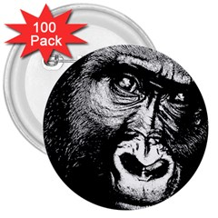 Gorilla 3  Buttons (100 pack)