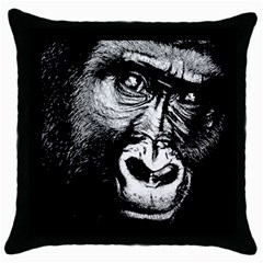 Gorilla Throw Pillow Case (Black)
