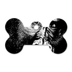 Gorilla Dog Tag Bone (two Sides)