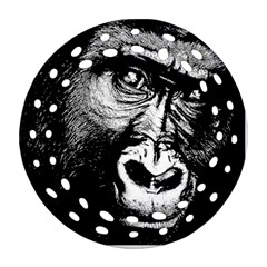 Gorilla Round Filigree Ornament (Two Sides)