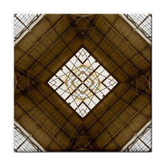 Steel Glass Roof Architecture Tile Coasters